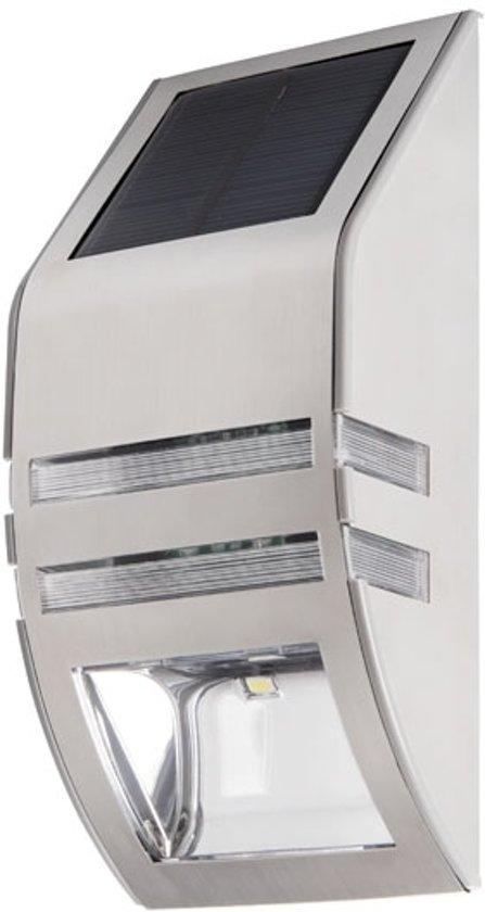 bol.com   Solar buitenlamp - LED 6500K - Kanlux gevel verlichting - RVS