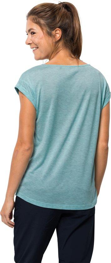 Dames Jack Shirt W Wolfskin T Coast Coral Aqua BwYUqf