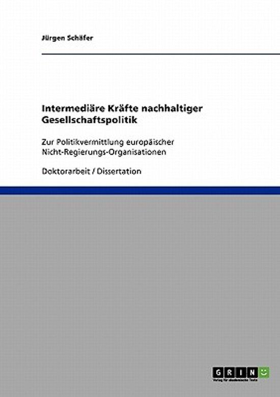 Intermedi re Kr fte Nachhaltiger Gesellschaftspolitik