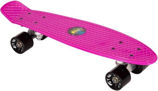 """Broozzer Kunststof Pennyboard - ABEC 7 lagers - 22,5"""" – Flipgrip-board – Skateboard / Kickboard - NEON ROZE"""