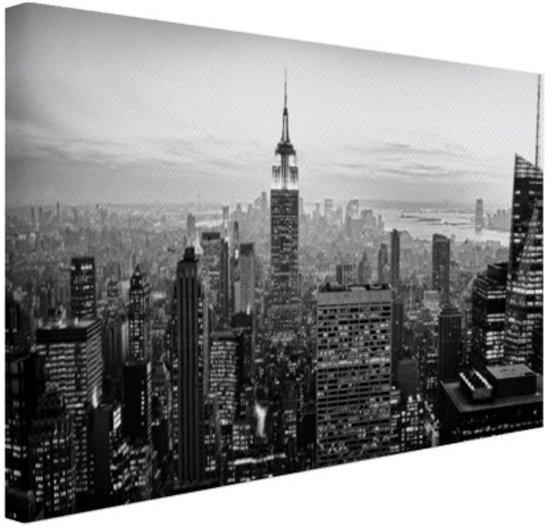 bolcom new york city zwartwit canvas 80x60 cm foto