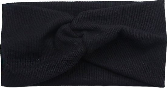 Haarband Zwart | Bandana | Katoen | Elastisch