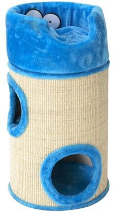 Cat dome de luxe met kussen 34x72cm blauw