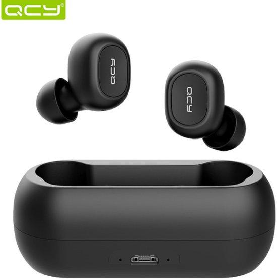 QCY T1C Volledig draadloos In-Ear oordopjes (ZWART)  Bluetooth 5.0   Meer dan 20 uur gebruik (met oplaadcase)   3D Stereo Geluid   Dual Microfoon   Beide oordopjes onafhankelijk te koppelen   Oplaadcase