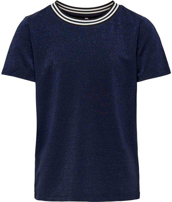 Kids Only t-shirt meisjes - blauw - KONathea - maat 158/164