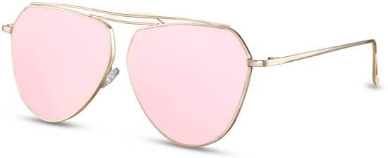 43098736d9aca1 Cheapass Zonnebrillen - Designer zonnebril - Goedkope zonnebril - Dames -  Roze