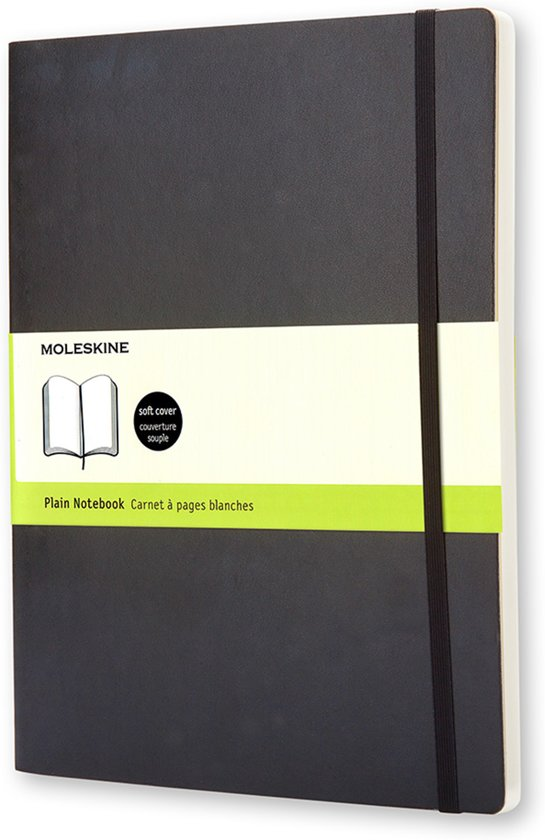 Moleskine Classic Notebook - XL - Plain - Soft - Black