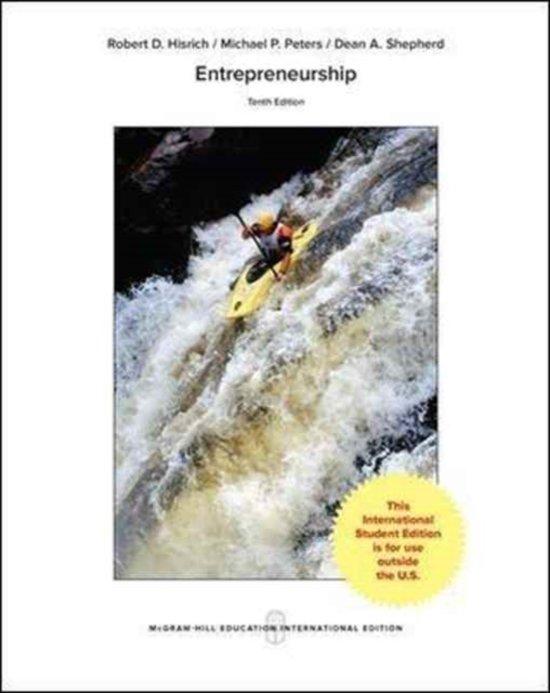 Boek cover Entrepreneurship van Robert A. Hisrich (Paperback)
