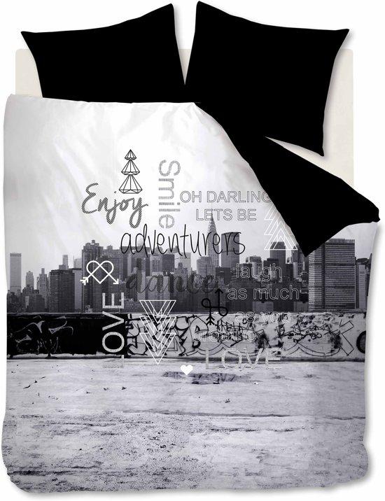 Ambiante Zera - Dekbedovertrek - Eenpersoons - 140x200/220 cm - Zwart