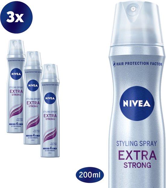 NIVEA Extra Strong Hairspray - Haarlak - 3 x 250 ml - Voordeelverpakking