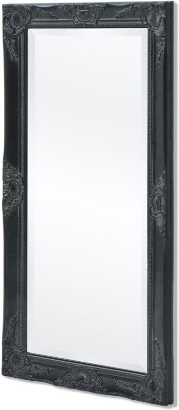 vidaXL Wandspiegel Barok 100 x 50 cm zwart