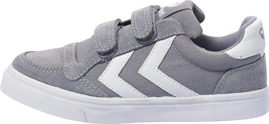 Hummel Stadil Jr Cuir Bas - Chaussures - Enfants - Noir / Blanc / Gris - Taille 30 Ck50jHs