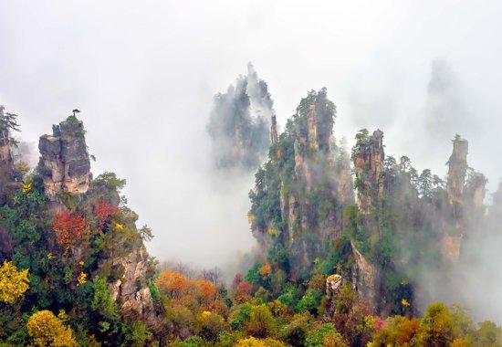 Fotobehang Zhang Jia Jie Fall Color|V8 - 368cm x 254cm|Premium Non-Woven Vlies 130gsm
