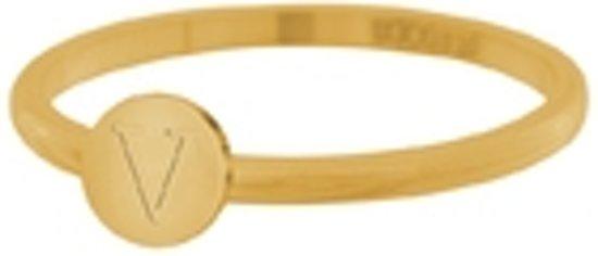 iXXXi Vulring Alfabet V goudkleurig 2mm - maat 17