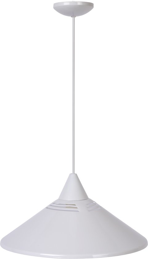 Lucide MORLEY - Hanglamp - Ø 34 cm - Wit