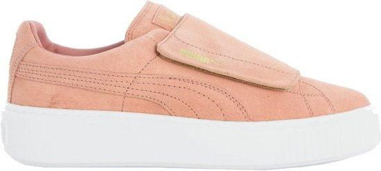 Strap Puma Platform Maat Sneakers 5 Suède Zalmroze 40 Dames w66qv4