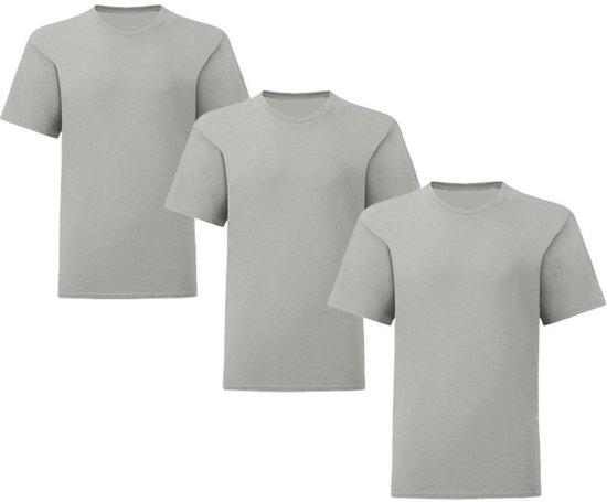 Senvi Kids 3 Pack T-Shirt Ronde Hals Maat:128 - Kleur: Muis Grijs