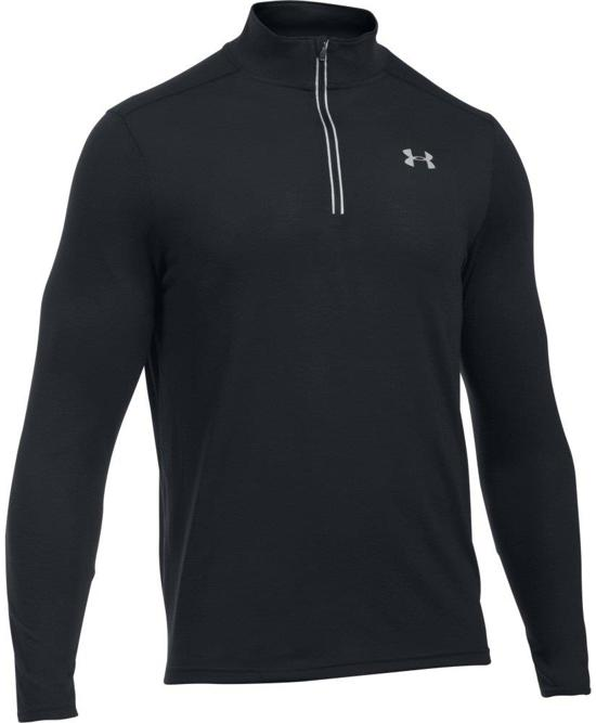 Under Armour Threadborne Streaker 1/4 Zip Sporttrui  - Heren - Maat L - Zwart