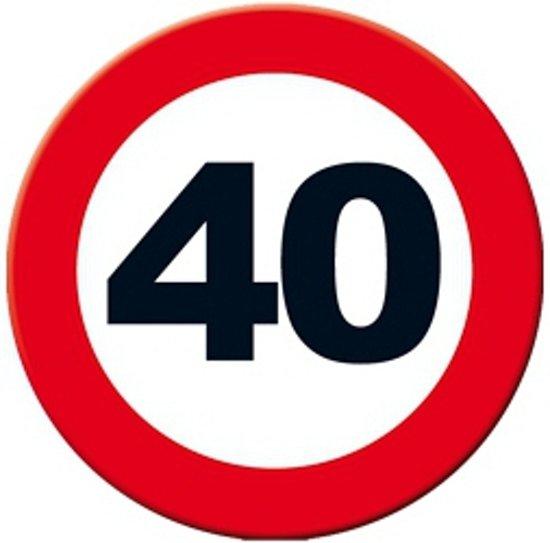 40 jaar bord bol.| Decoratie verkeersbord 40 jaar 49 cm, Merkloos | Speelgoed 40 jaar bord