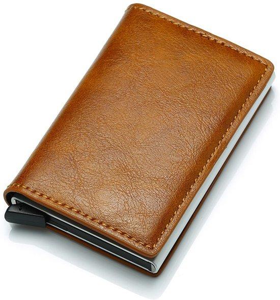 63c916a59d5 Luxe Leren Pasjeshouder Portemonnee. Aluminium pasjeshouder met ruimte voor  briefgeld. Met RFID protectie.
