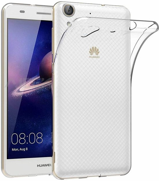 Ntech Huawei Y6 - || Transparant Siliconen Ultra Thin hoesje