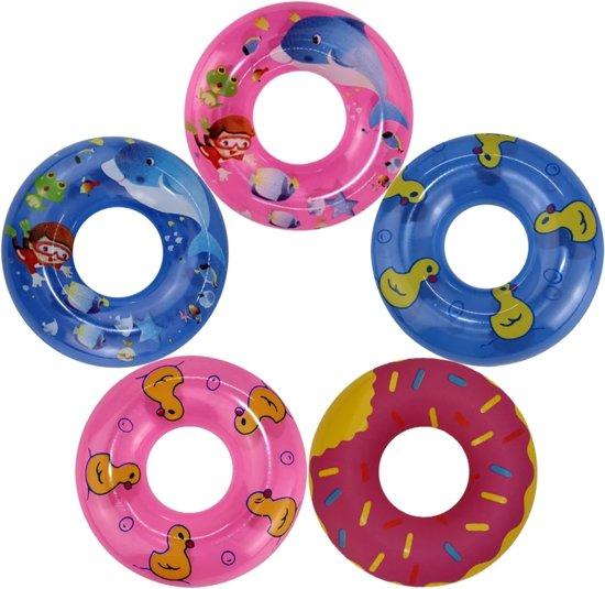Poppenkleertjes - geschikt voor Barbie - oranje bikini met ananasjes - met zwemband, omslagdoek en slippers - zwemkleding - zomer