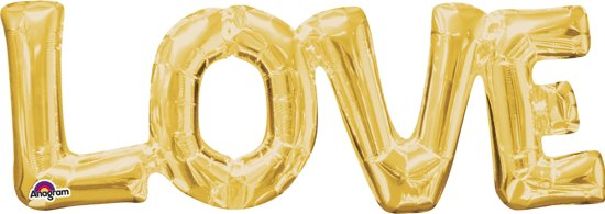 Folieballon 'Love' - Goud