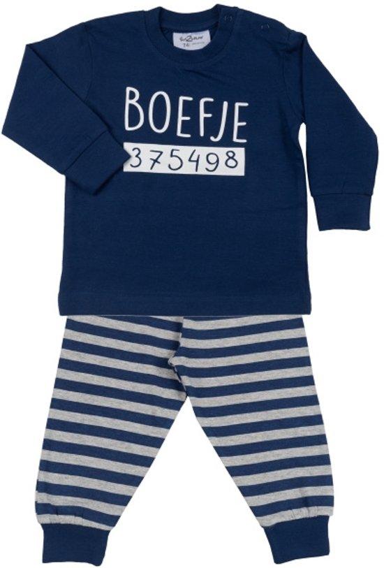 Fun2wear - Boefje - Kinder - Baby /Peuter/Kleuter/ Kinder pyjama - Navy - Maat 80