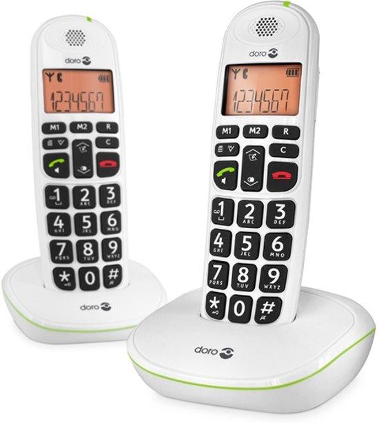 Doro PhoneEasy 100W - Duo DECT telefoon - Wit