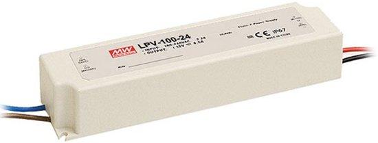 SCHAKELENDE VOEDING - 1 UITGANG - 100 W - 24 V (LPV-100-24)