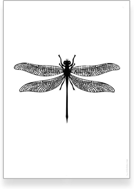 bolcom tekst poster 20x30 cm dieren poster libelle