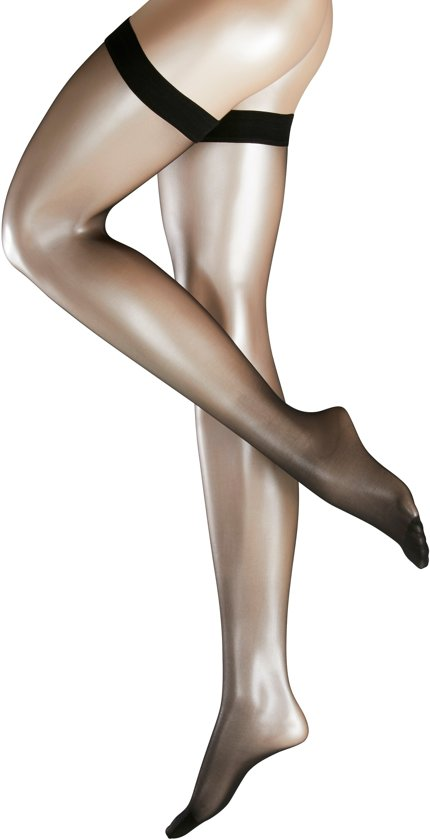 Falke Invisible Deluxe 8 Stay-Up (41561)  Kleur: Sun (4299)  Maat: L