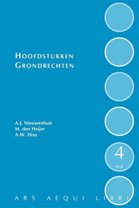 Ars Aequi Handboeken Hoofdstukken grondrechten