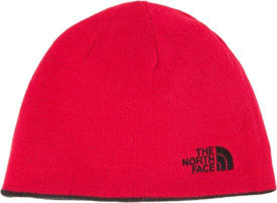 6808214e8a8 The North Face Reversible Tnf Banner Beanie Muts - Unisex - TNF Black TNF  Red