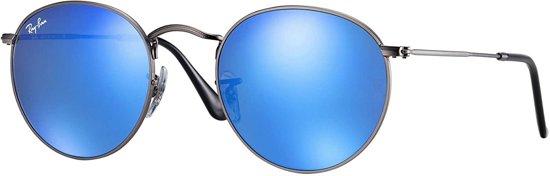 8e5eaa02383e21 Ray-Ban round metal - staalgrijs montuur met blauwe spiegel lenzen - 50 mm -