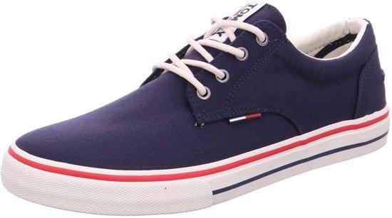 340435a1208 Donkerblauwe Casual Veterschoenen Tommy Hilfiger Tommy Jeans