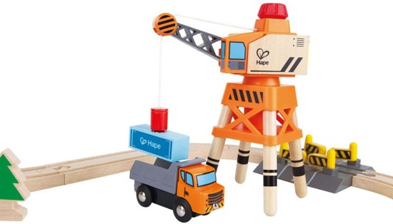 Hape Crane & Cargo Treinset