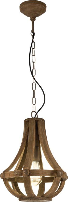 EGLO Vintage Kinross - Hanglamp - 1 Lichts - Bruin
