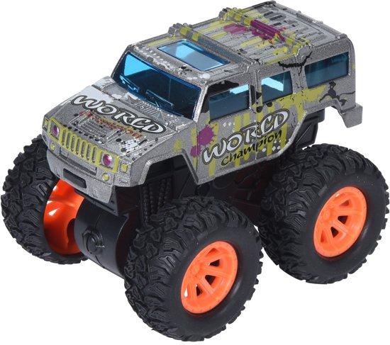 Free And Easy Speelgoedauto Monstertruck Frictie 9 Cm Grijs