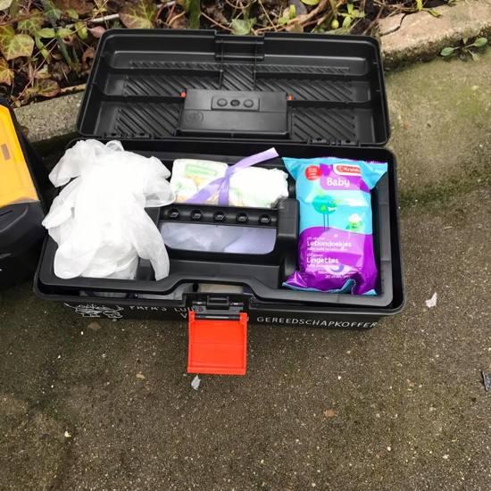 Gereedschap koffer - Papa's luier verschoon gereedschap koffer