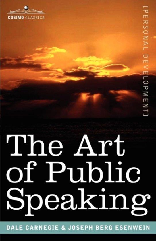 Boek cover The Art of Public Speaking van Dale Carnegie (Paperback)