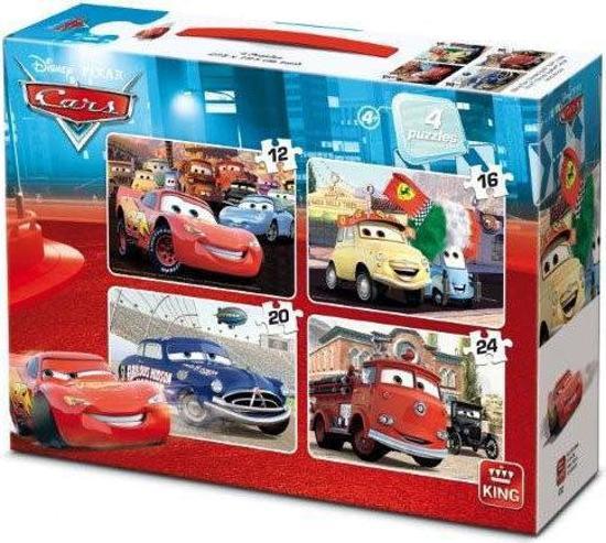 Disney 4 in 1 Puzzel: Cars - 72 Stuks