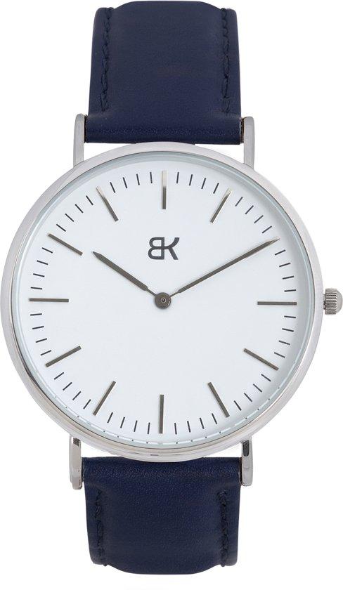 BK AMSTERDAM - Classic White Rokin Horloge