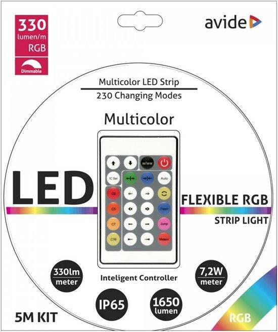 Led strip Multicolor 5M + Afstb