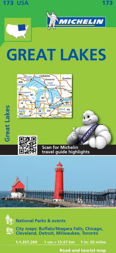 Michelin USA Great Lakes Map 173