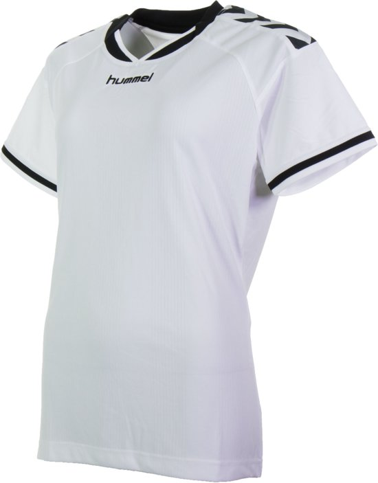 6bf11245e43 Hummel Stay Authentic Jersey Polyester Sportshirt - Maat S - Vrouwen - wit/ zwart