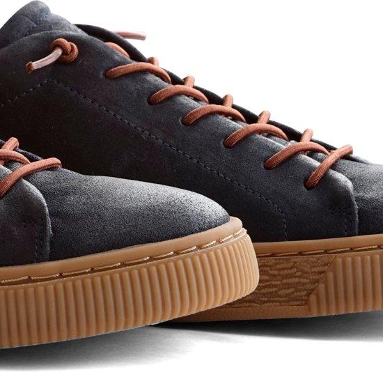 Nogrz Heren Brushed 43 Maat vancampen Donkerblauw Leer Sneaker J xxIrq80E
