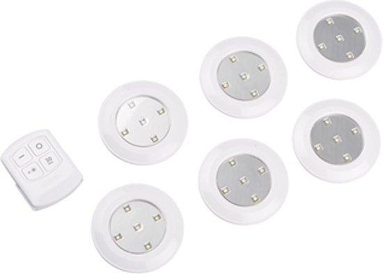 5x draadloze led spot met afstandsbediening