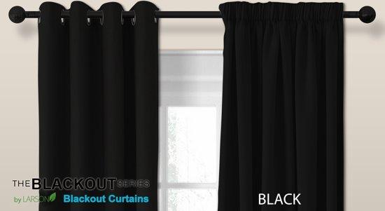 larson luxe blackout gordijn met haak zwart 15x25m verduisterend