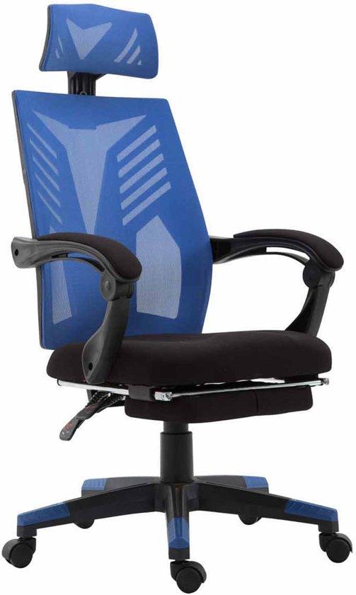 Bureaustoel Blauw Zwart.Clp Smart Bureaustoel Mesh Zwart Blauw Zwart